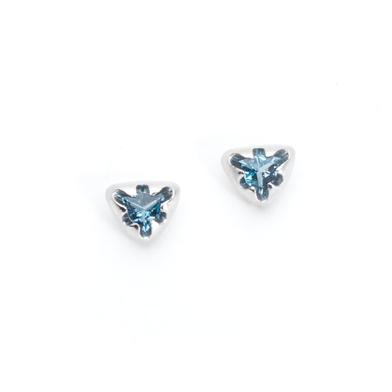 """victoria"" stud earrings with topaz"