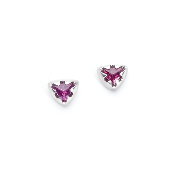 """Victoria"" triangle stud earrings"