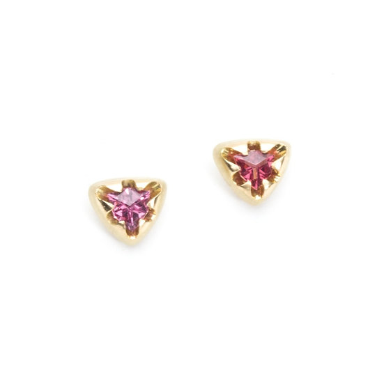 """Victoria"" stud earrings with rhodolite"