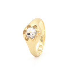 """victoria"" 18k gold ring with diamond"