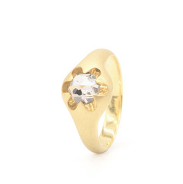 """""""victoria"""" 18k gold ring with diamond"""