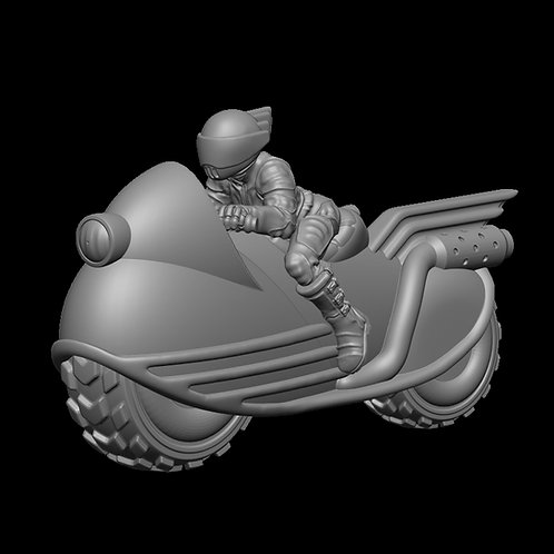 Female Biker on Bike 1 (Resin)