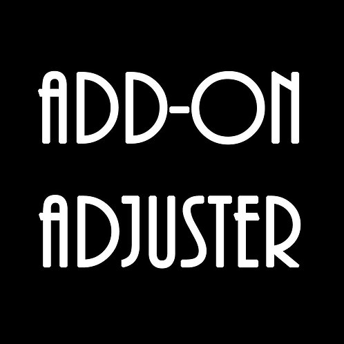 ITW- ADD-ON ADJUSTER