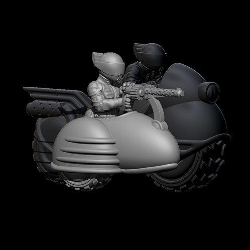 Sidecar with Machine Gun (Resin)