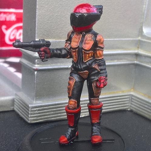 Female Biker on Foot 1 (Resin)