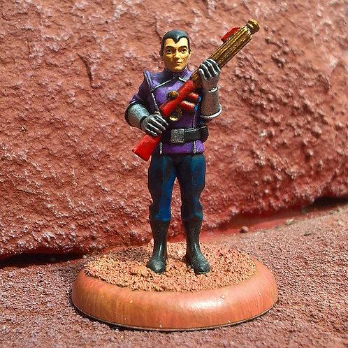 Fleet Trooper 2, Present Arms (Pewter)