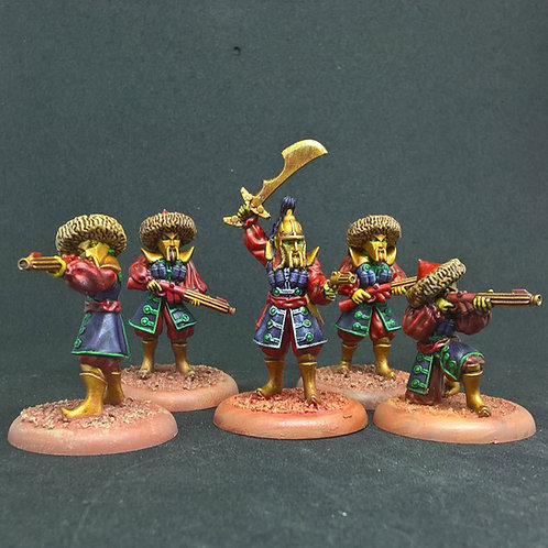 Mongol Squad with Helmets (Resin)