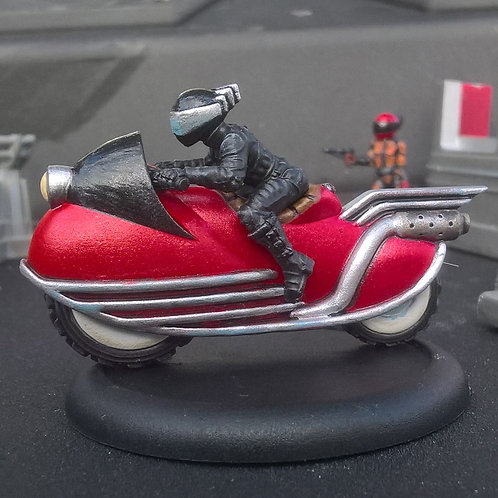 Male Biker on Bike 1 (Resin)