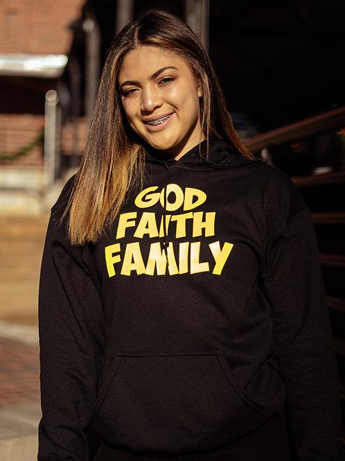 """God Faith Family Hoody """"Stacked"""""""