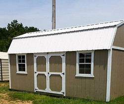 side lofted barn  10x20- price info