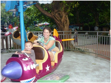 Dion's first amusement ride