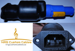 NRG Custom Cables - PowerCon to IEC adap