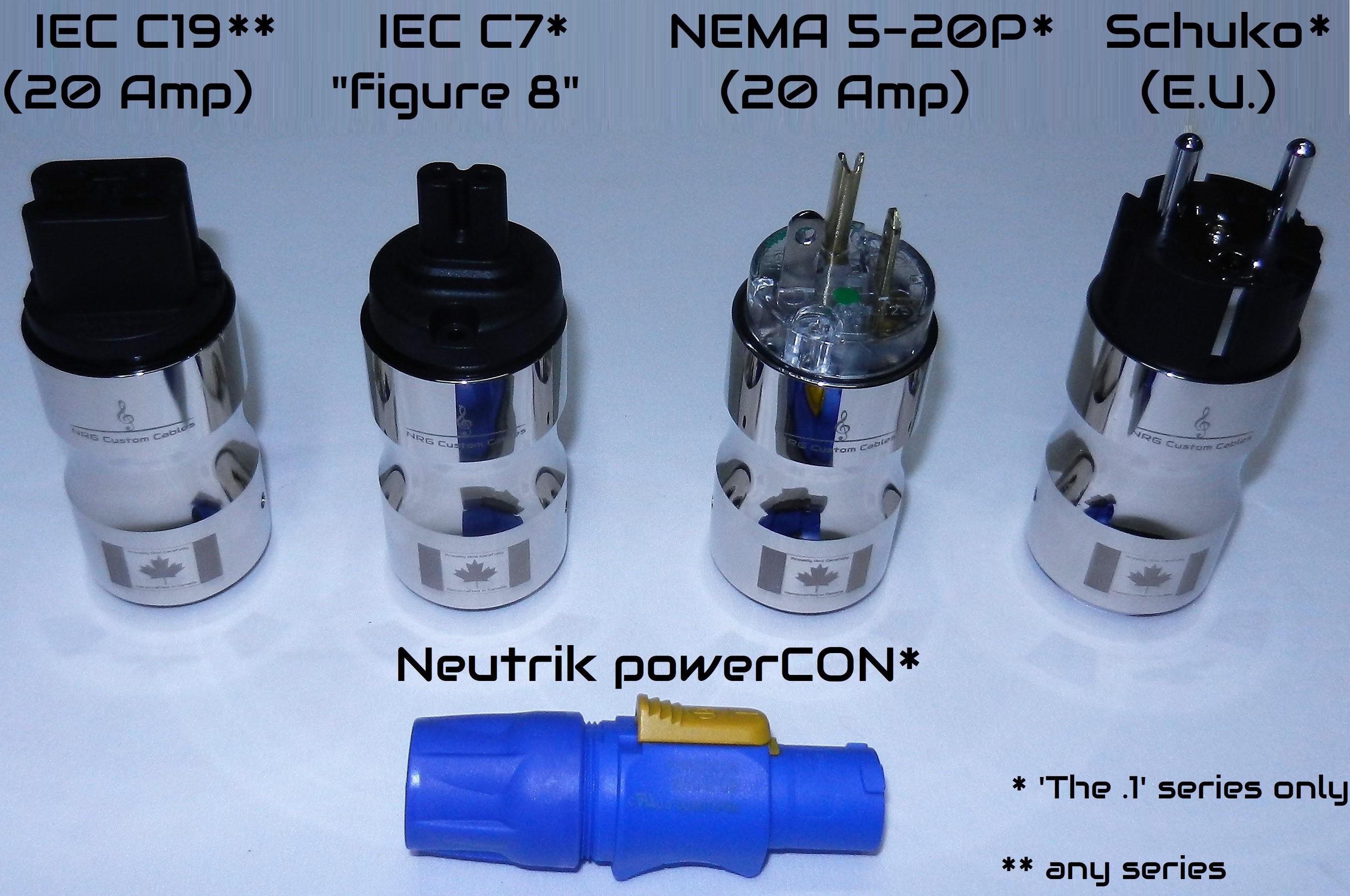 NRG Custom Cables - Plug Lineup (Special