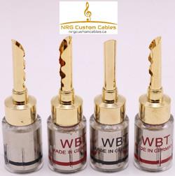NRG Custom Cables - #1 Gold Bananas (str