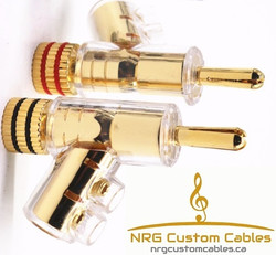 NRG Custom Cables - #1 Gold Bananas