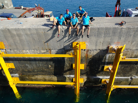 Wave energy converter installation in Heraklion: First preparation phase successfully completed