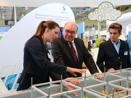 Success story presented by the German Government: SINN Power exhibits at Hannover Messe 2016