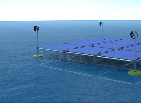 Wave, wind and PV: The world's first floating Ocean Hybrid Platform
