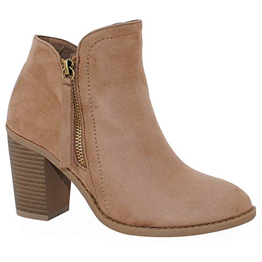 I got my true size and the color Taupe! This bootie comes in 8 different colors and they are so comfortable!