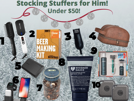 Stocking Stuffers for HIM! (under $50)