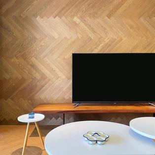 水曲橡木壁板