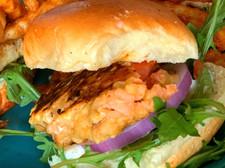 Fresh Salmon Burger Slider