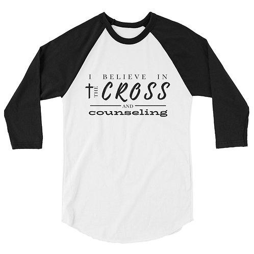 the Cross + counseling baseball tee