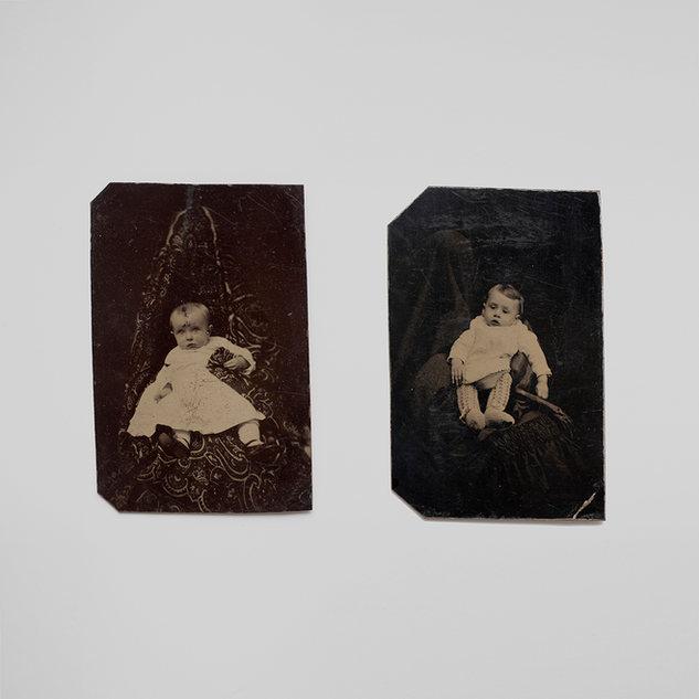 2 hidden mother tintypes