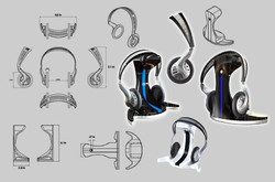 BNMD headphone with charging stand