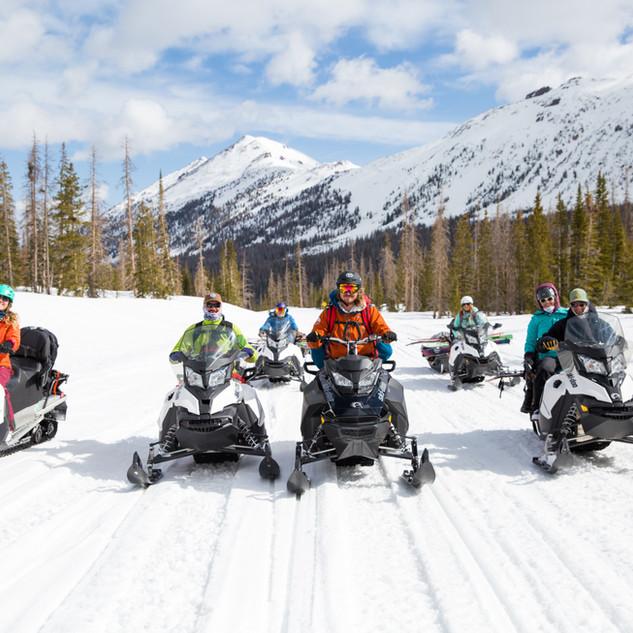 Snowmobile ride in