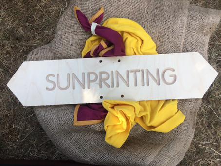 Make prints while the sun shines