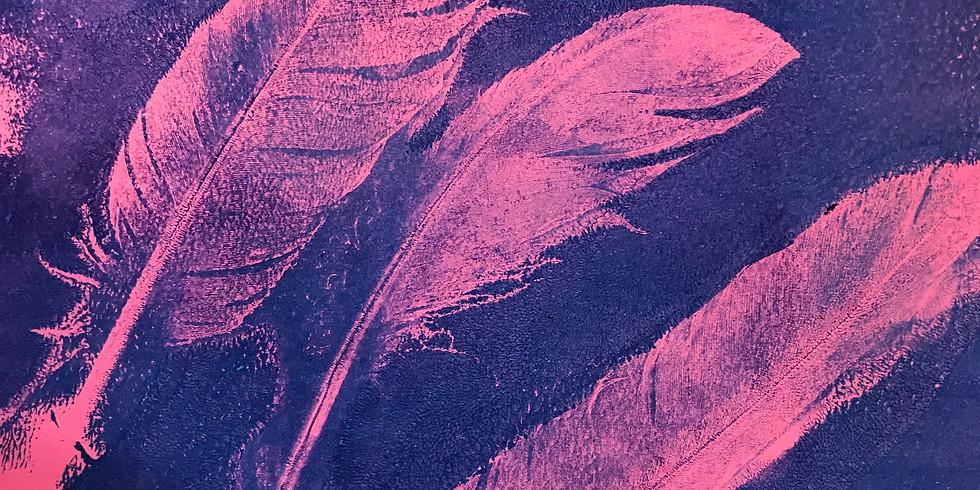 Gelli prints and monotypes