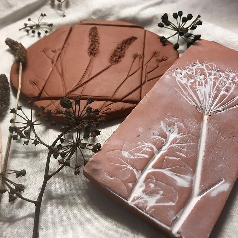 Botanical Clay Tiles