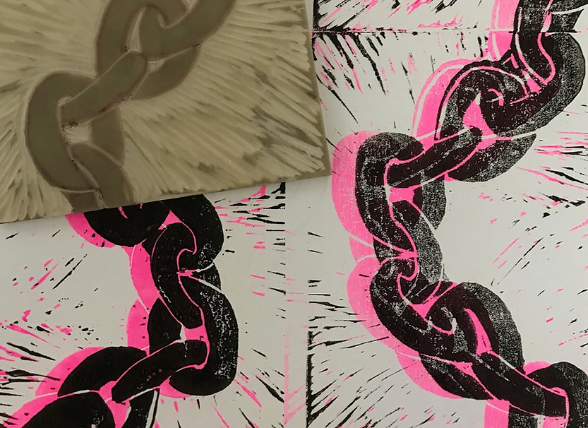 cool-linocut-chain-bright-colour-example