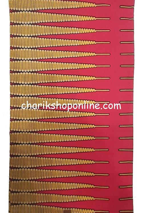 African Wax Print 6 yards/ Ankara fabric/ Orange Arrow ankara/