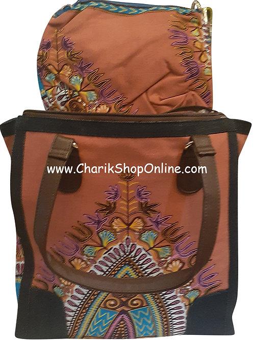 Ankara purse/ Dashiki purse/ Ankara bag/African print bag Brown