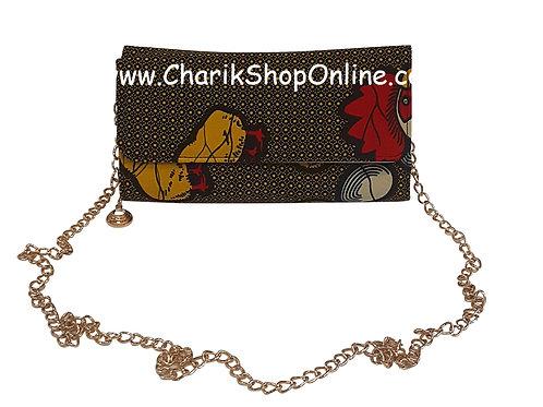 Ankara purse/ kente purse/ Ankara bag/African print bag Red Yellow