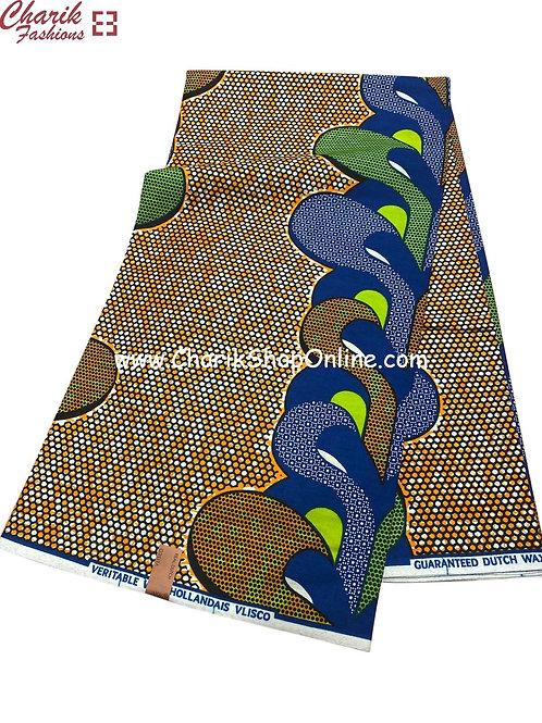 African Wax Print  6 yards/ Ankara fabric/ Honeycomb ankara/