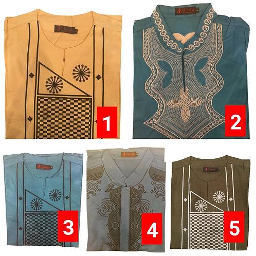 1 African embroidered dashiki men's shirt Size Large Set #1