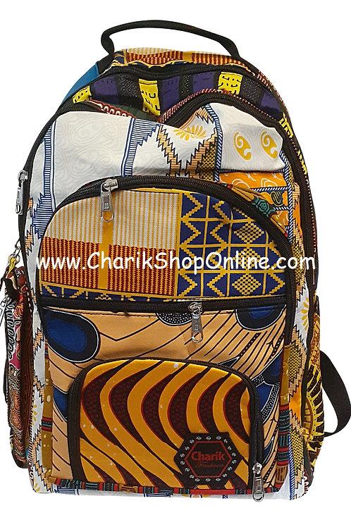 Ankara Print African Print Backpack Zebra Pouch