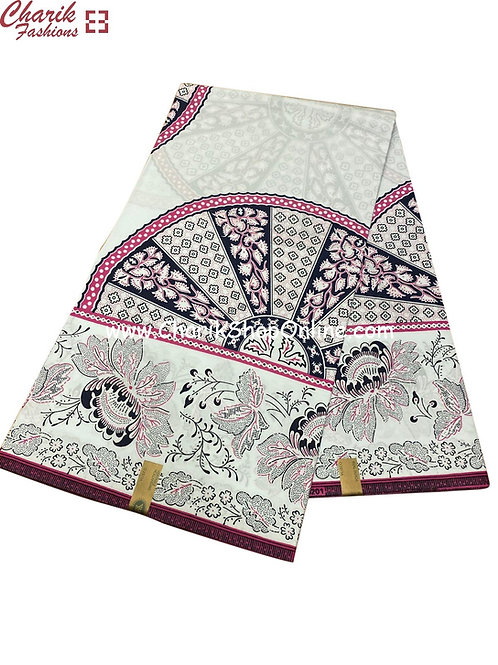 African Wax Print  6 yards/ Ankara fabric/ Pastel floral ankara/