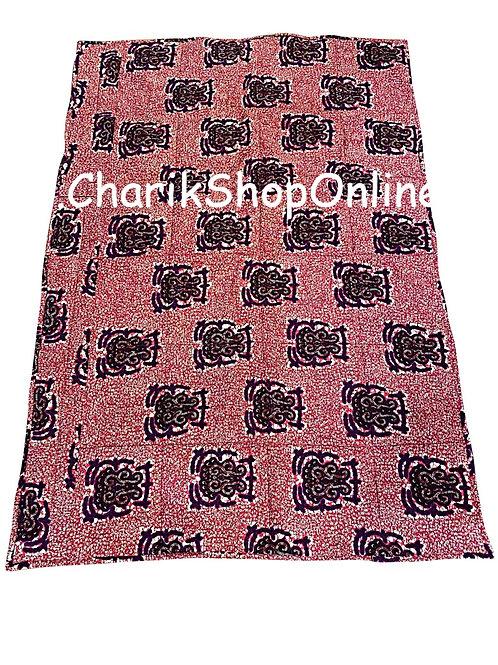 African print blanket Purple Crest