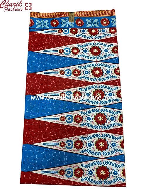 African Wax Print  6 yards/ Ankara fabric/ Blue Stars ankara/