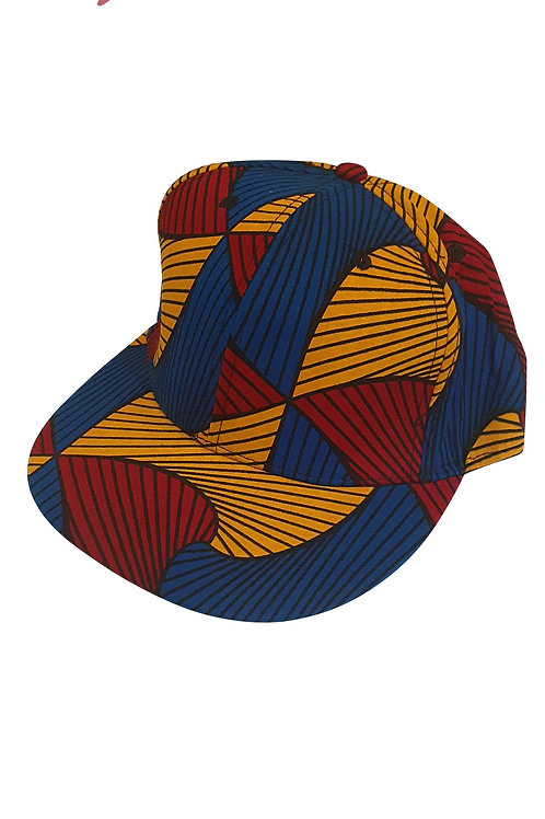 Hip Hop Snapback Blue Orange Ankara Cap