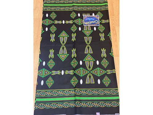 African Wax Print 6 yards/ Ankara fabric/ Green Atum ankara/