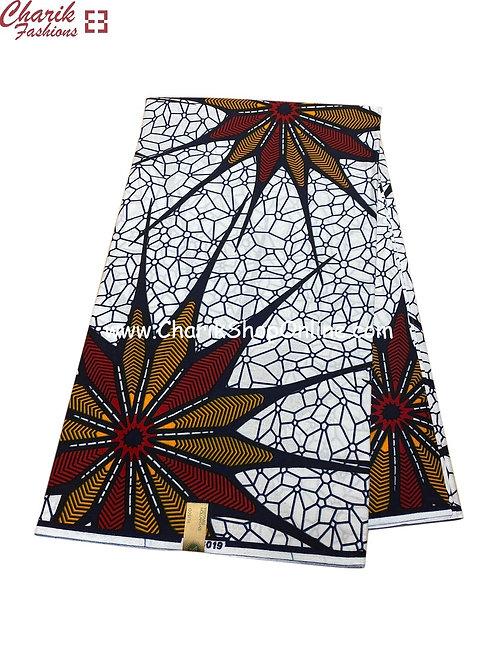 African Wax Print  6 yards/ Ankara fabric/ Fan Out ankara/