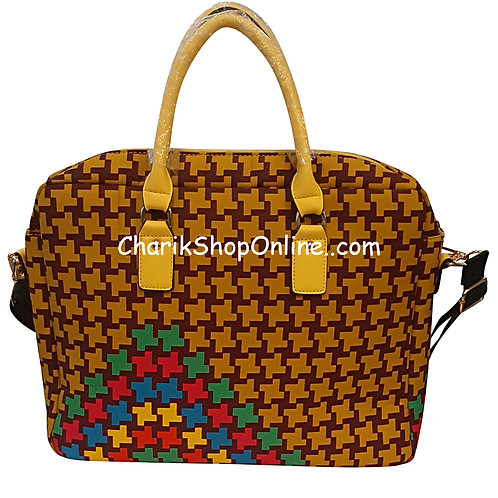 Ankara tote/ kente tote/ Ankara bag/African print bag Color Maze