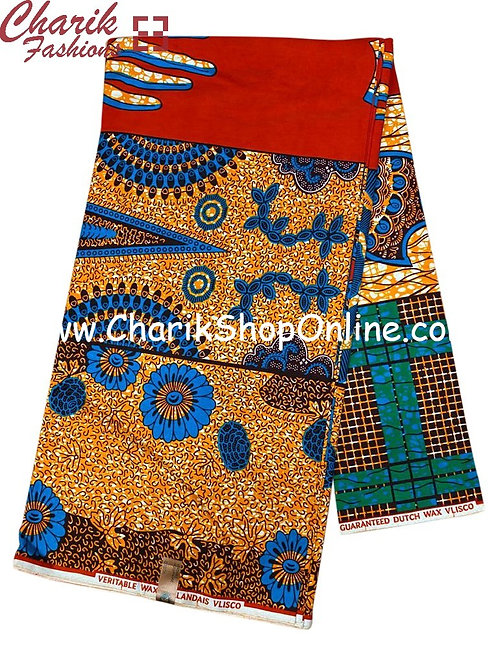 African Wax Print  6 yards/ Ankara fabric/ Blue Coil ankara/