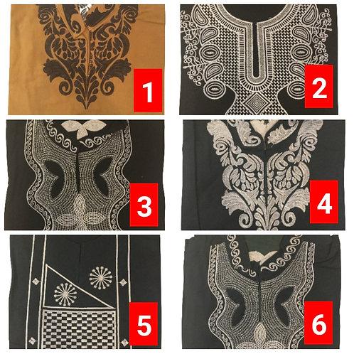 2 African embroidered dashiki men's shirt Size 3XLSet #1