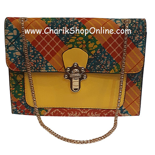 Ankara purse/ kente purse/ Ankara bag/African print bag Red Orange